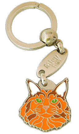 Maine Coon red - pet ID tag, dog ID tags, pet tags, personalized pet tags MjavHov - engraved pet tags online